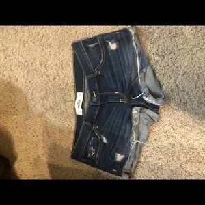 Hollister short shorts cuffed